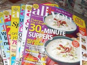 All You magazines for break room at work